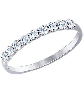 Золотое кольцо с фианитами 017456