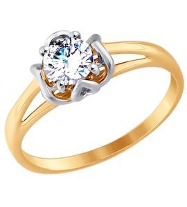 Золотое кольцо с фианитом 017526