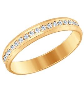 Золотое обручальное кольцо 017652