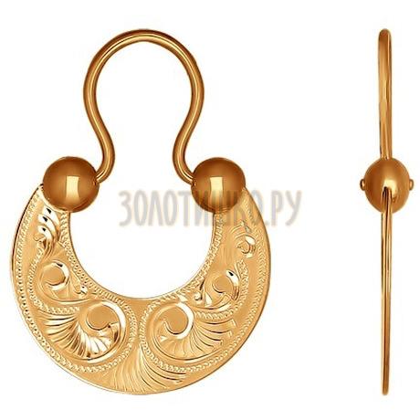 Золотые серьги 024257
