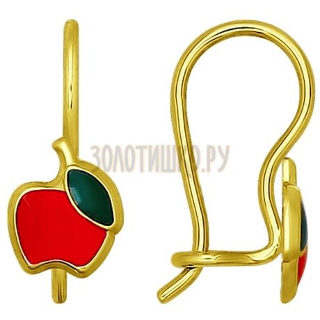 Золотые серьги 026029-2
