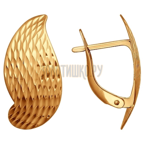 Золотые серьги 026594