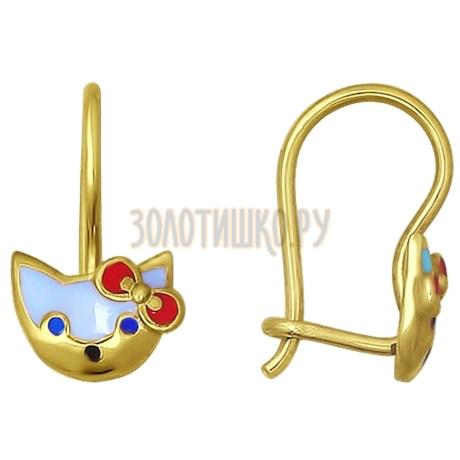 Золотые серьги 026623-2