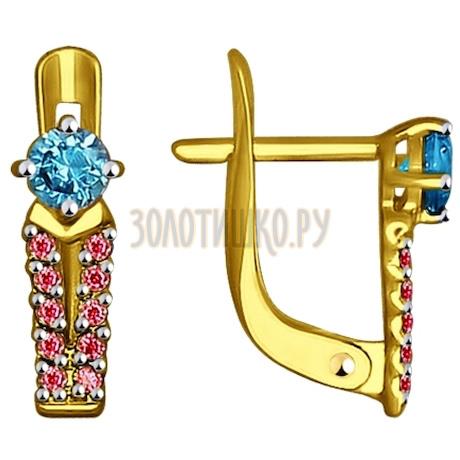 Золотые серьги 027456-2