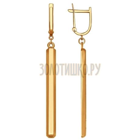 Золотые серьги 027591