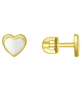 Золотые серьги 027611-2