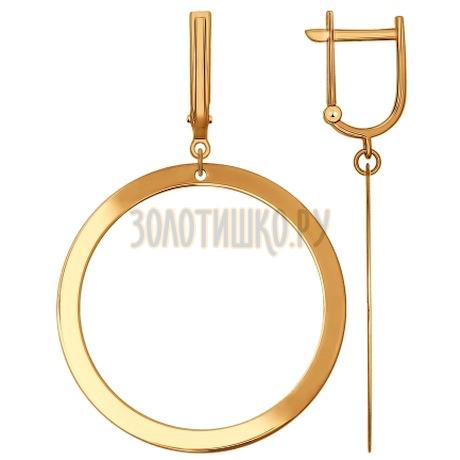 Золотые серьги 027620
