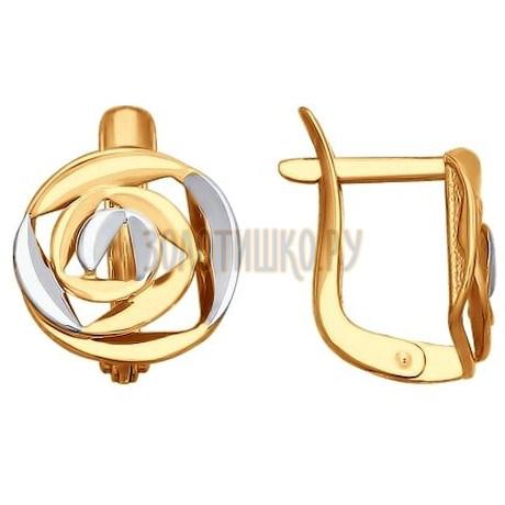 Золотые серьги 027634