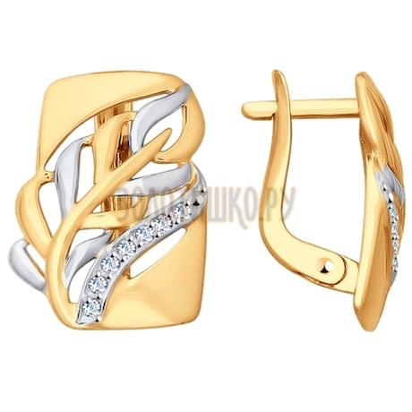 Золотые серьги 027707