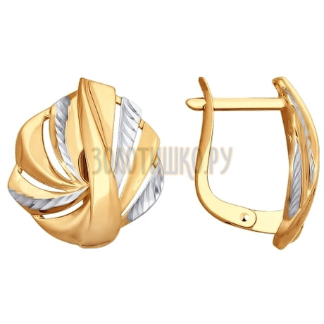 Золотые серьги 027752