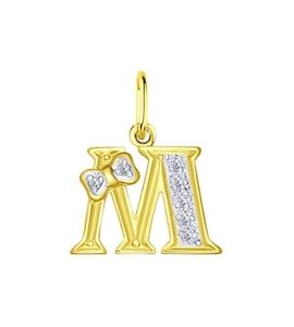Золотая подвеска с фианитами 030660-2
