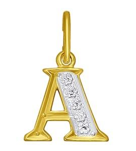 Золотая подвеска с фианитами 031093-2