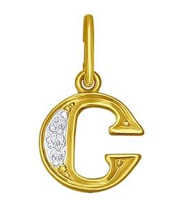 Золотая подвеска с фианитами 031101-2