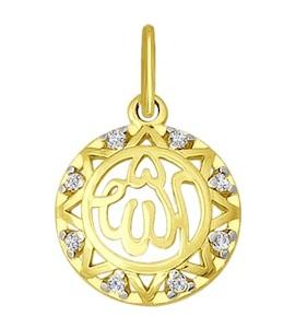 Золотая мусульманская подвеска 034439-2