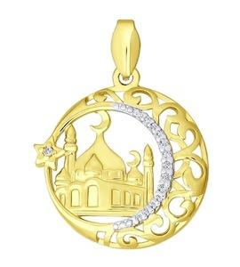 Золотая мусульманская подвеска 034443-2