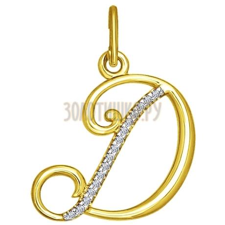 Золотая подвеска с фианитами 034529-2