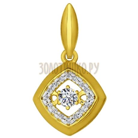 Золотая подвеска с фианитами 034765-2