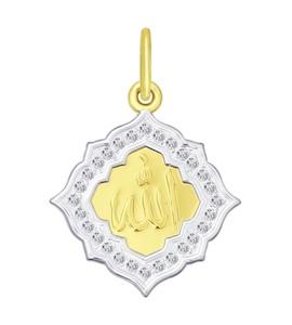 Золотая подвеска с фианитами 034839-2