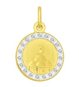 Золотая подвеска с фианитами 034847-2