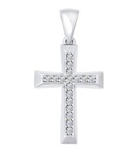 """Золотая подвеска """"крест"""" 034877-3"""
