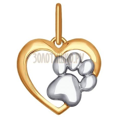 Золотая подвеска 035233