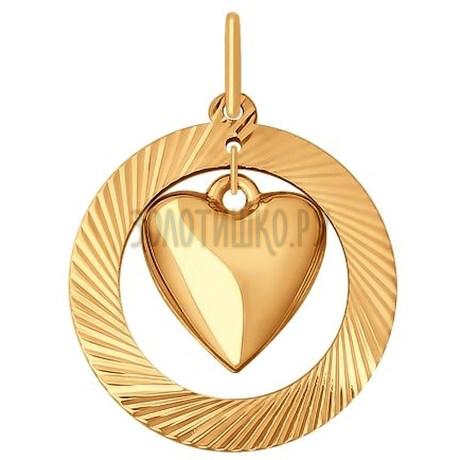 Золотая подвеска 035297