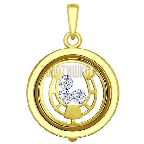 Золотая подвеска 035327-2