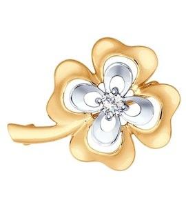 Золотая брошь 040218