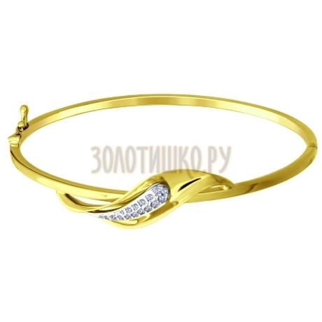 Золотой браслет с фианитами 050698-2