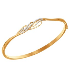 Золотой браслет с фианитами 050833