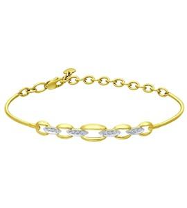 Золотой браслет с фианитами 050915-2