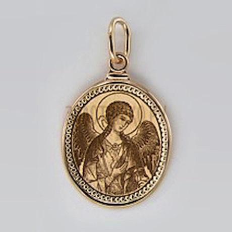 Золотая подвеска с эмалью 100374