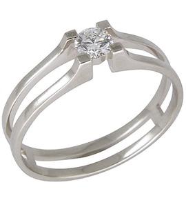 Золотое кольцо с бриллиантом 1010106