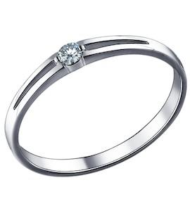Золотое кольцо с бриллиантом 1010152