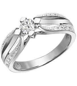 Золотое кольцо с бриллиантами 1010299