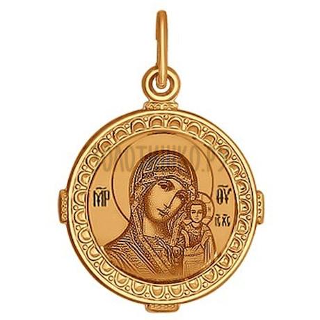 Золотая подвеска с эмалью 101044