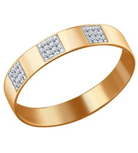 Золотое кольцо с бриллиантами 1010508