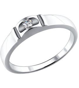 Золотое кольцо с бриллиантом 1010829