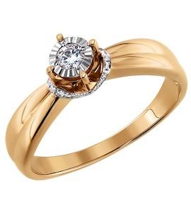 Золотое кольцо с бриллиантами 1011113