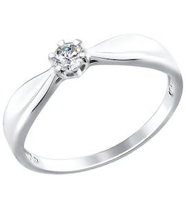Золотое кольцо с бриллиантом 1011577