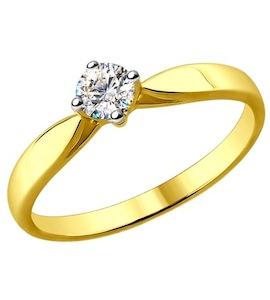 Золотое кольцо с бриллиантом 1011580