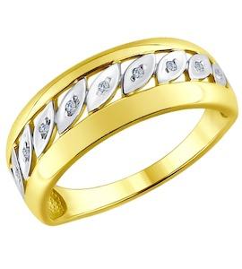 Золотое кольцо с бриллиантами 1011607