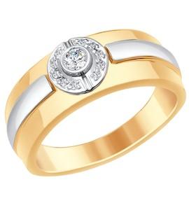 Золотое кольцо с бриллиантами 1011648