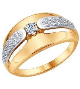 Золотое кольцо с бриллиантами 1011650