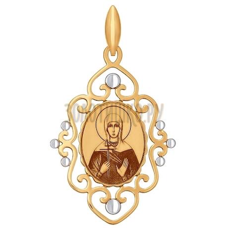 Золотая подвеска с эмалью 101719