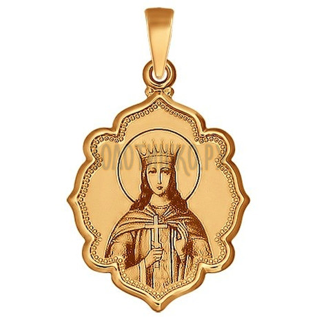 Золотая подвеска с эмалью 103005