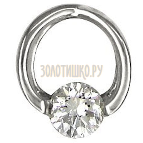 Золотая подвеска с бриллиантом 1030052