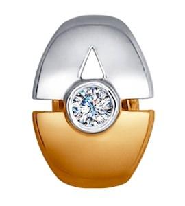 Золотая подвеска с бриллиантом 1030581