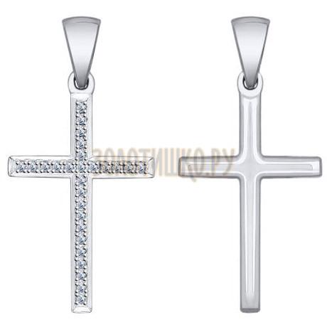 """Золотая подвеска """"крест"""" 1030622"""