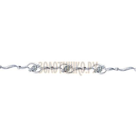 Золотой браслет с бриллиантами 1050020